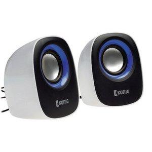 König Speaker 2.0 Bedraad 3.5 mm 4 W Blauw / Zwart