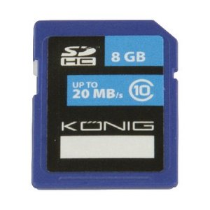 König SDHC Geheugenkaart Klasse UHS-I 8 GB