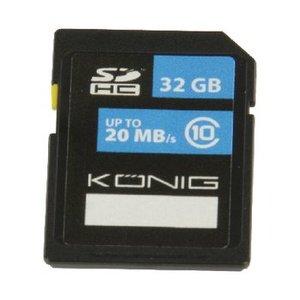 König SDHC Geheugenkaart Klasse UHS-I 32 GB