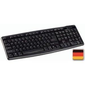 König Bedraad Keyboard Multimedia USB German Zwart