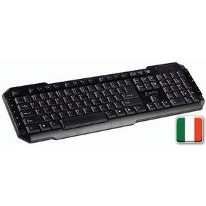 König Bedraad Keyboard Multimedia USB Italian Zwart