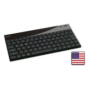 König Bluetooth Keyboard Verlicht Draagbaar US International Zwart