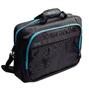 "König Laptop Tas 17-18"" Polyester Zwart / Blauw"