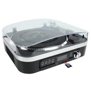 König USB Platenspeler SD / LP / Radio Zwart