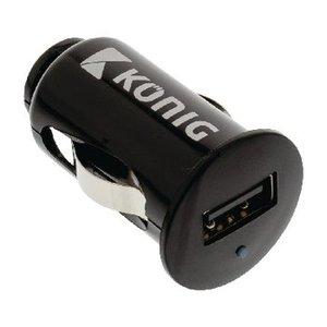 König Autolader 1-Uitgang 2.1 A USB Zwart