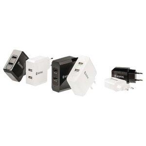 König Lader 2 - Uitgangen 4.8 A USB Wit