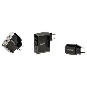 König Lader 2 - Uitgangen 4.8 A USB Zwart