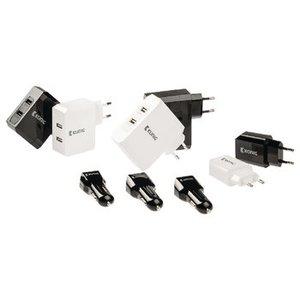 König Autolader 2-Uitgangen 4.2 A USB Zwart