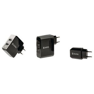 König Lader 2 - Uitgangen 3.4 A USB Zwart
