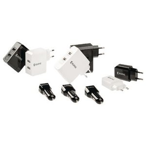 König Autolader 2-Uitgangen 3.1 A USB Zwart