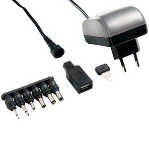 Bandridge Universele AC Stroom Adapter 3 VDC / 4.5 VDC / 5 VDC / 6 VDC / 7.5 VDC / 9 VDC / 12 VDC 1500 mA USB