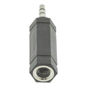 Bandridge Stereo Audio Adapter 3.5 mm Male - 6.35 mm Female Zwart