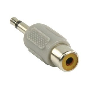 Bandridge Mono Audio Adapter 3.5 mm Male - RCA Female Grijs