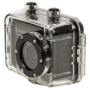 König Full HD Action Camera 1080p Waterdichte Behuizing Zwart