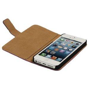 König Smartphone Wallet-book iPhone 5s Imitatieleer Roze