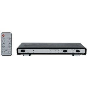 König HDMI Schakelaar 4x HDMI-Ingang - HDMI-Uitgang + TosLink Female + RJ45 Female Zwart