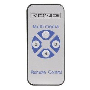 König HDMI Schakelaar 4x HDMI-Ingang - HDMI-Uitgang Zwart