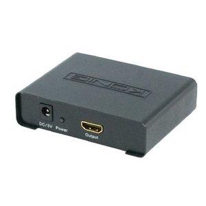 König HDMI Schakelaar 2x HDMI-Ingang - HDMI-Uitgang Zwart