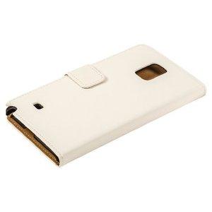 König Smartphone Wallet-book Galaxy Note 4 Imitatieleer Wit