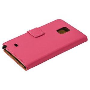 König Smartphone Wallet-book Galaxy Note 4 Imitatieleer Roze