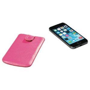 König Smartphone Insteekhoes M Imitatieleer Roze