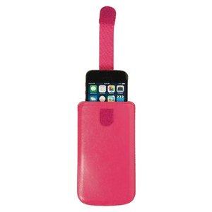 König Smartphone Insteekhoes M-L Imitatieleer Roze