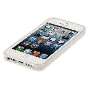 König Smartphone Gel-case iPhone 5s Imitatieleer Wit