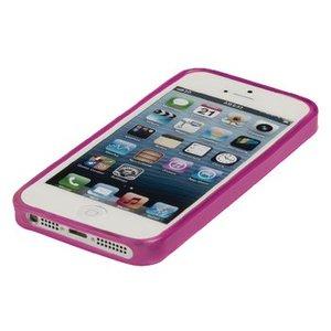 König Smartphone Gel-case iPhone 5s Imitatieleer Roze