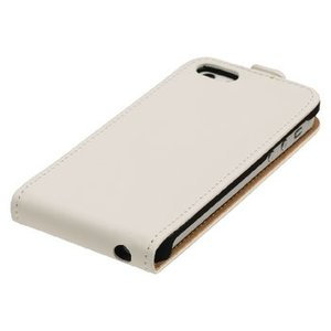 König Smartphone Flip-case iPhone 6 / 6s Plus Imitatieleer Wit