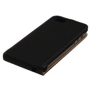 König Smartphone Flip-case iPhone 6 / 6s Plus Imitatieleer Zwart