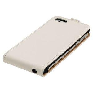 König Smartphone Flip-case Galaxy S5 Imitatieleer Wit