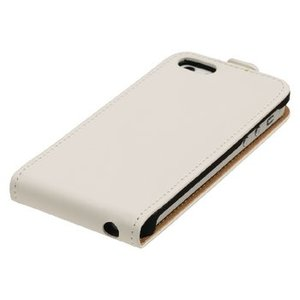 König Smartphone Flip-case Galaxy S5 Mini Imitatieleer Wit