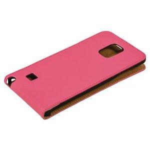 König Smartphone Flip-case Galaxy Note 4 Imitatieleer Roze