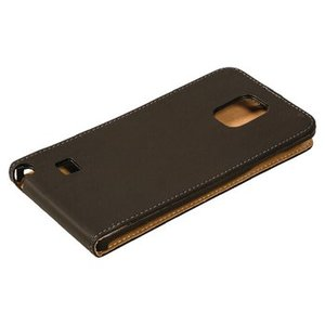 König Smartphone Flip-case Galaxy Note 4 Imitatieleer Zwart