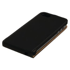 König Smartphone Flip-case Galaxy Alpha Imitatieleer Zwart