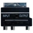 Bandridge SCART Adapter Schakelbaar SCART Male - 3x RCA Female Zwart