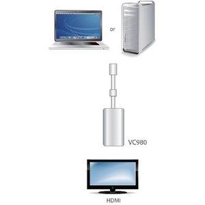Aten Mini DisplayPort Kabel Mini-DisplayPort Male - HDMI-Uitgang 0.20 m Wit