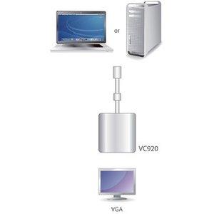 Aten Mini DisplayPort Kabel Mini-DisplayPort Male - VGA Female 15-Pins 0.20 m Wit