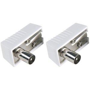 Bandridge Coax Connector Male PVC Wit