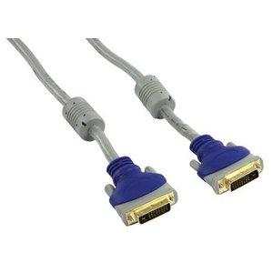 HQ DVI Kabel DVI-D 24+1-Pins Male - DVI-D 24+1-Pins Male 5.00 m Grijs