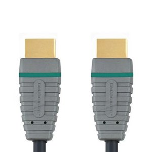 Bandridge High Speed HDMI kabel met Ethernet HDMI-Connector - HDMI-Connector 3.00 m Blauw