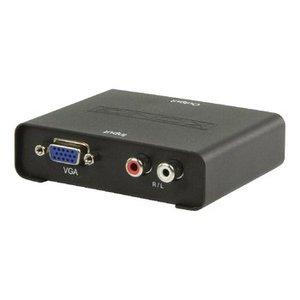 König HDMI Converter VGA Female + 2x RCA Female - HDMI-Uitgang Zwart