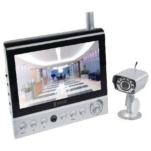 König Draadloos camerasysteem met 7-inch LCD-monitor