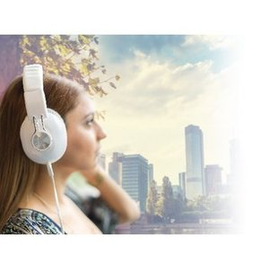König Headset Over-Ear 3.5 mm Bedraad Ingebouwde Microfoon Wit