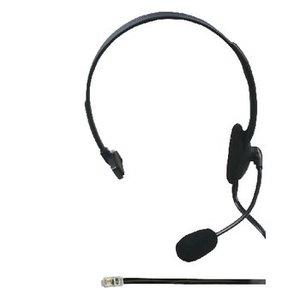 König Headset On-Ear RJ9 Bedraad Ingebouwde Microfoon Zwart