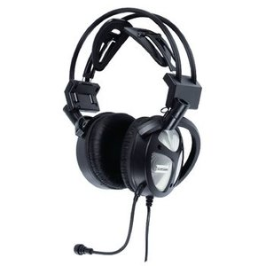 König Headset Over-Ear USB Bedraad Ingebouwde Microfoon Zwart