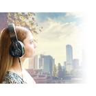 König Headset Over-Ear 3.5 mm Ingebouwde Microfoon Zwart