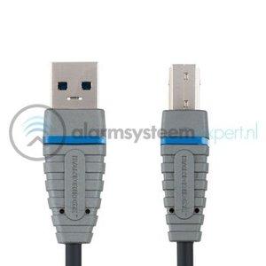 Bandridge USB 3.0 Kabel A Male - B Male Rond 2.00 m Blauw