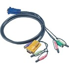 Aten KVM Kabel VGA Male / 2x PS/2-Connector / 2x 3.5 mm Male - Aten SPHD15-Y / 2x Connector 3.5 mm 1.8 m