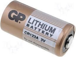 Batería de litio CR123A de 3 voltios